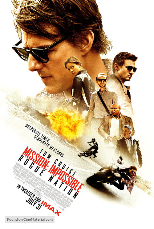Mission: Impossible - Rogue Nation - Theatrical movie poster
