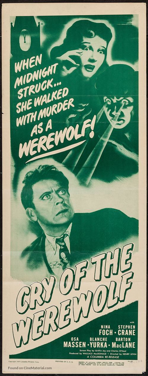Cry of the Werewolf - Movie Poster