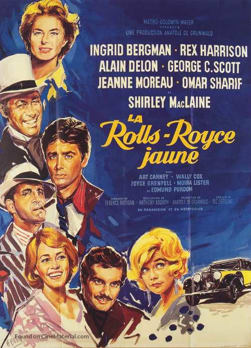 The Yellow Rolls-Royce French movie poster