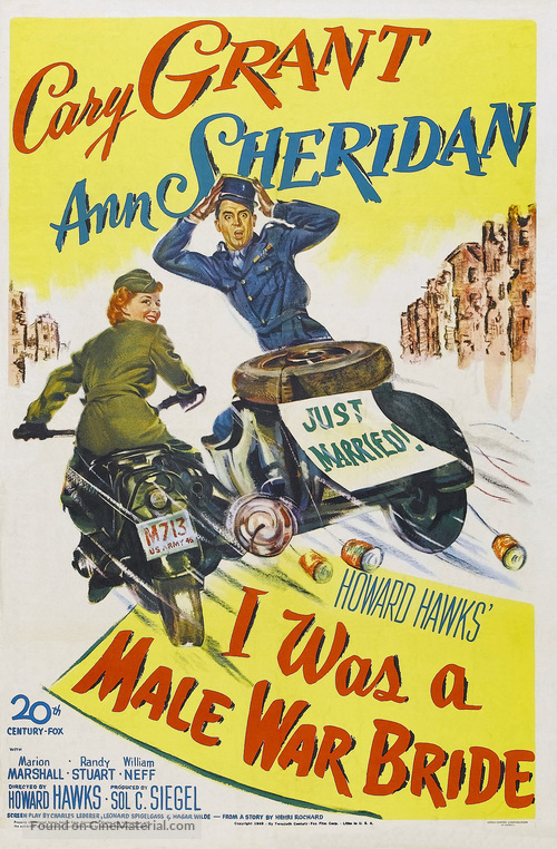 I Was a Male War Bride - Movie Poster