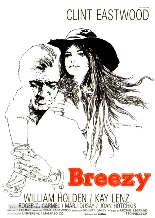Breezy (1973) French movie poster
