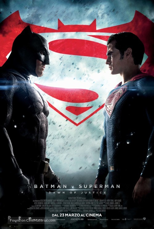 Batman v Superman: Dawn of Justice - Italian Movie Poster