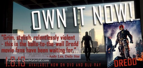 Dredd - Video release poster
