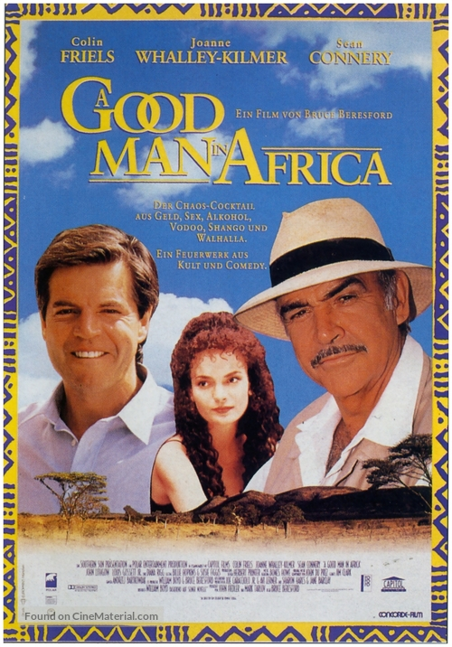 A Good Man in Africa - German Movie Poster