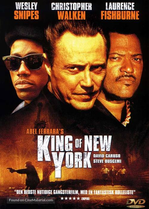 King of New York - Danish DVD movie cover