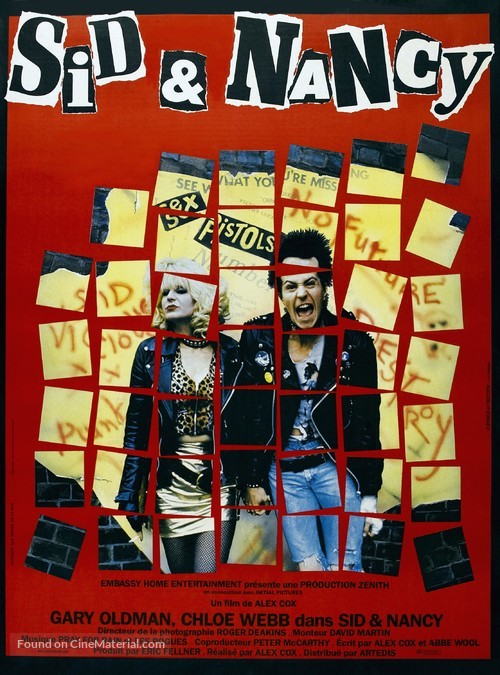Sid and Nancy - French Movie Poster
