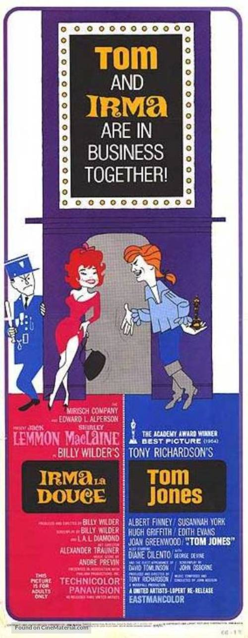 Irma la Douce - Combo movie poster