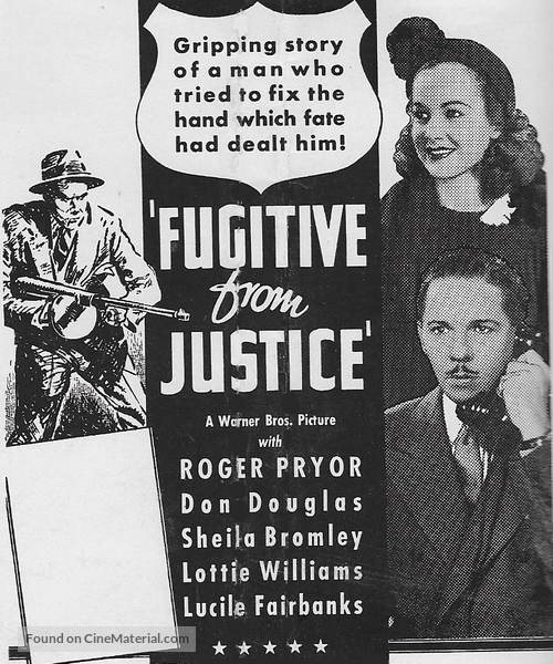 A Fugitive from Justice - Movie Poster