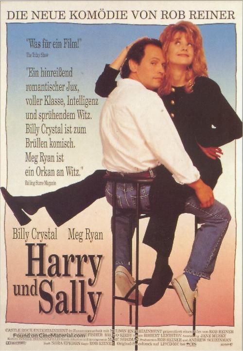 When Harry Met Sally... - German Movie Poster