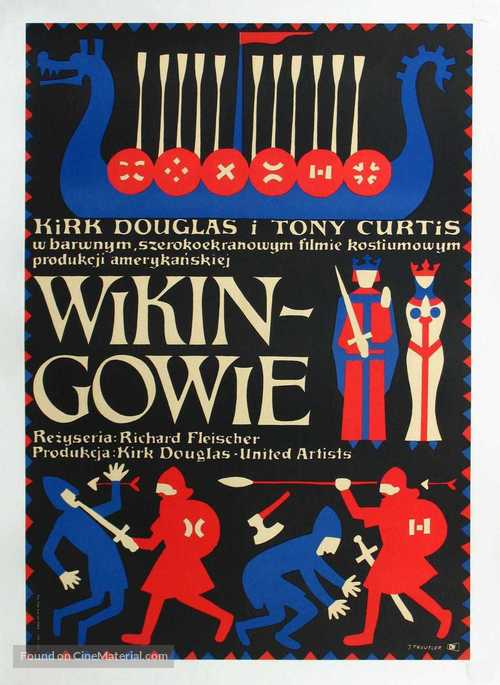The Vikings - Polish Movie Poster
