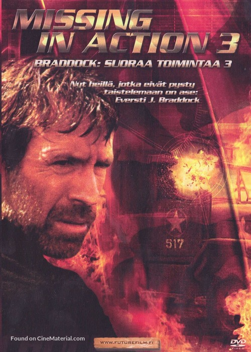 Braddock: Missing in Action III - Finnish DVD movie cover