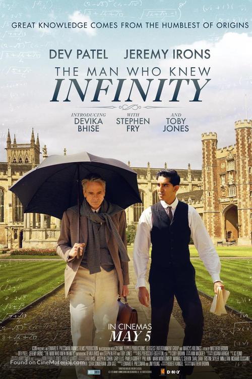 The Man Who Knew Infinity - Australian Movie Poster