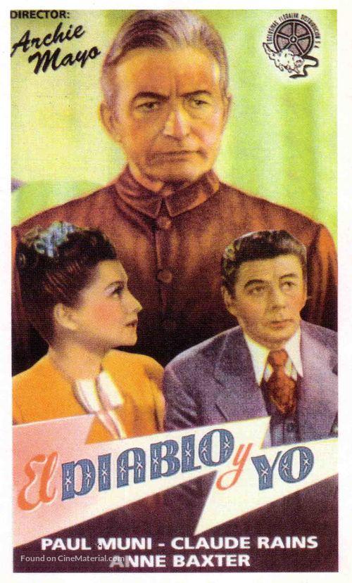 Angel on My Shoulder - Spanish Movie Poster