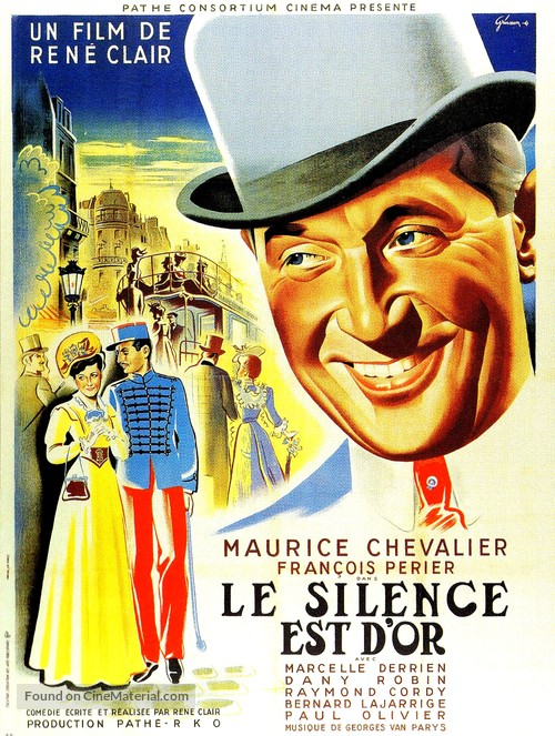 Le silence est d'or, Le - French Movie Poster
