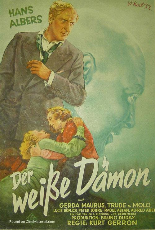 Der weiße Dämon - German Movie Poster