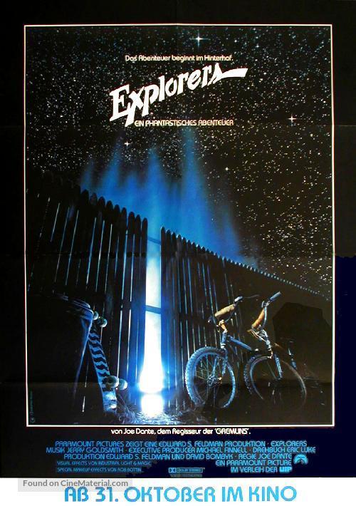 Explorers - German Movie Poster