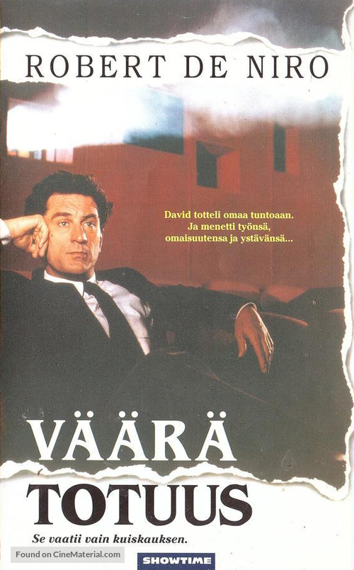 Guilty by Suspicion - Finnish VHS movie cover