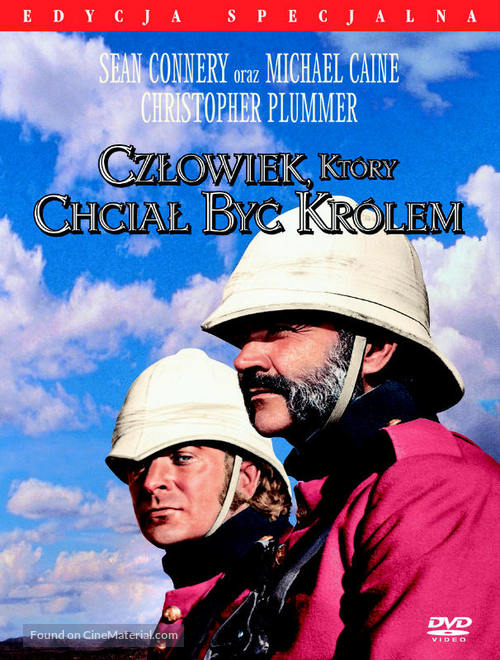 The Man Who Would Be King - Polish DVD movie cover