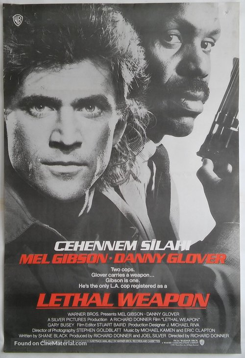 Lethal Weapon - Turkish Movie Poster