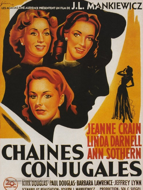 A Letter to Three Wives - French Movie Poster