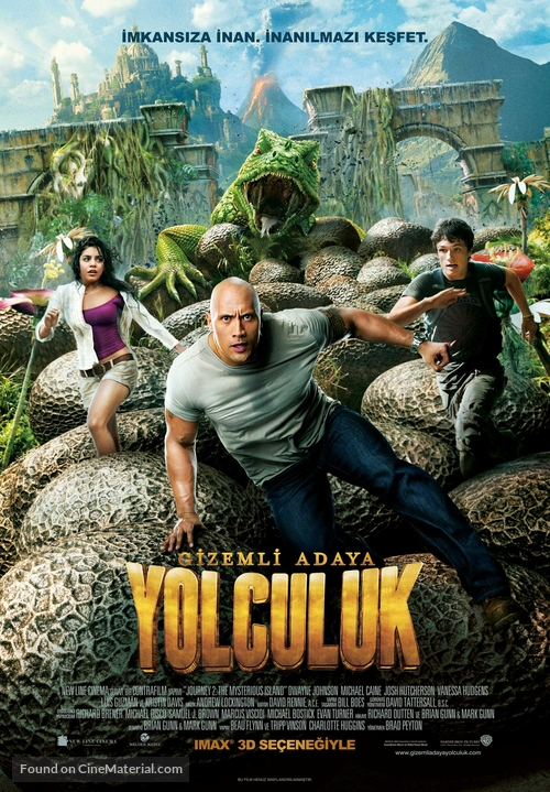 Journey 2: The Mysterious Island - Turkish Movie Poster