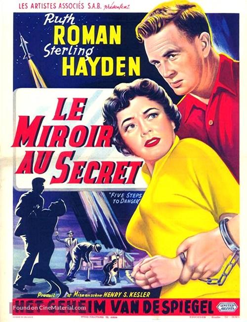 5 Steps to Danger - Belgian Movie Poster