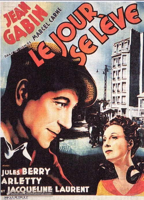 Le jour se lève - Belgian Movie Poster