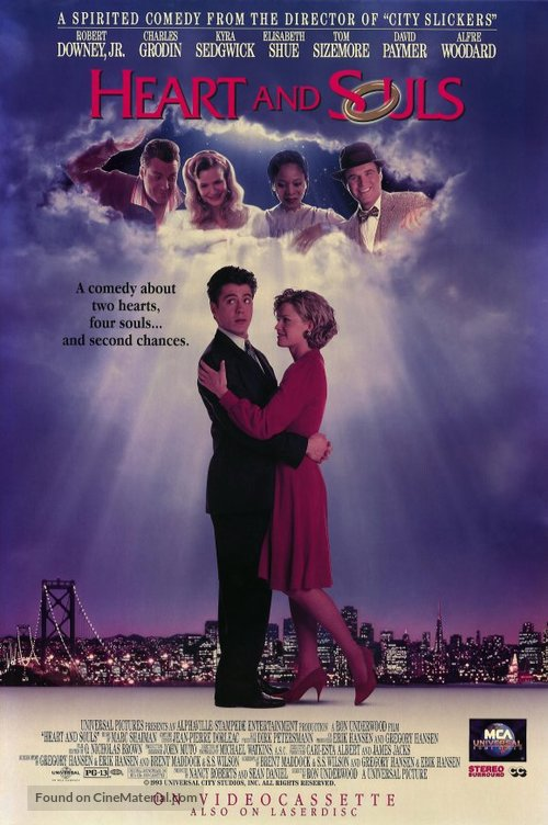 Heart and Souls - Video release movie poster