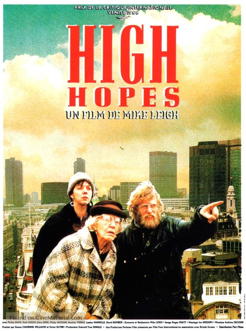 High Hopes - French Movie Poster