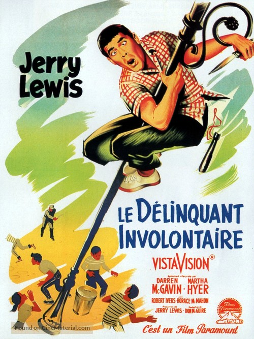 The Delicate Delinquent - French Movie Poster