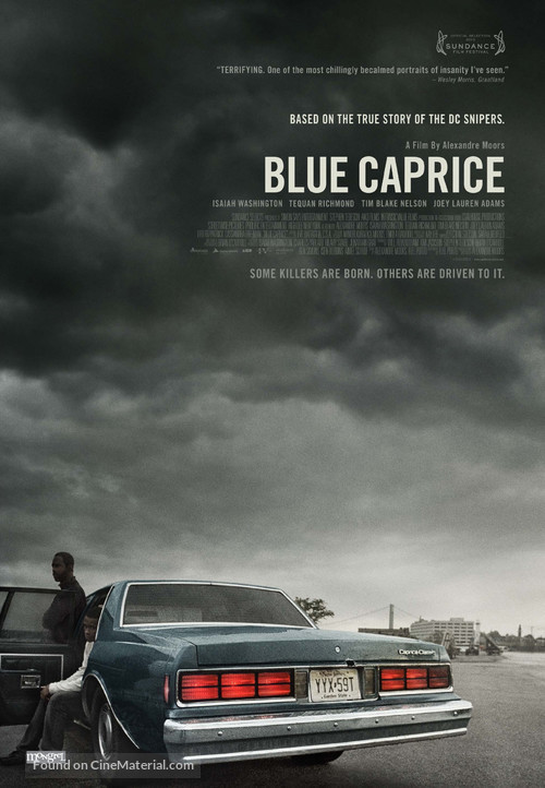 Blue Caprice - Canadian Movie Poster