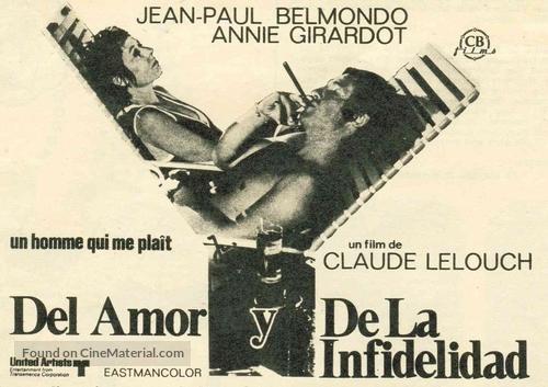 Un homme qui me plaît - Spanish Movie Poster