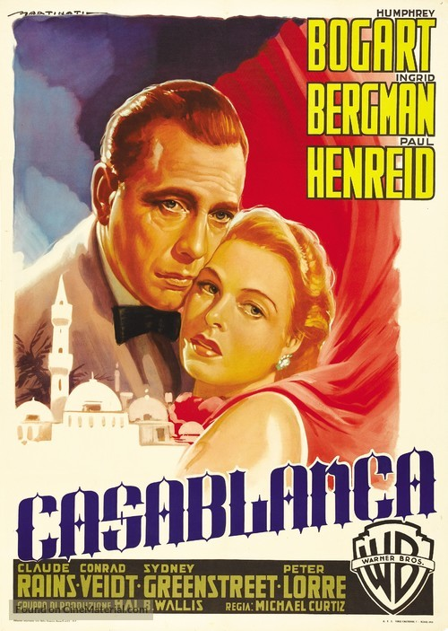 Casablanca - Italian Movie Poster