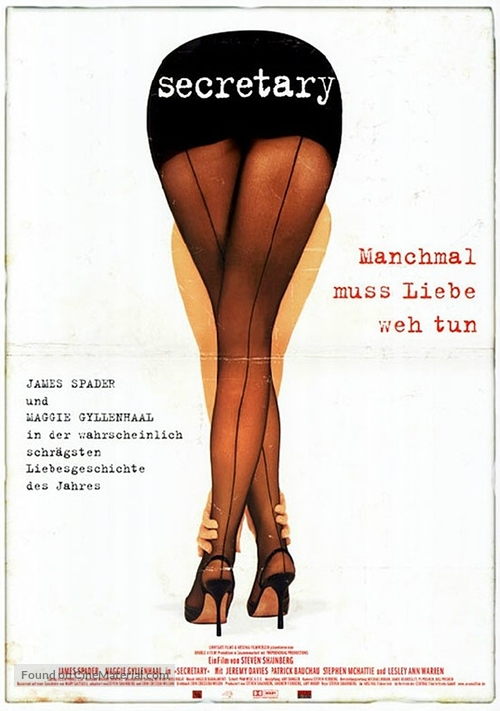 Secretary - German Movie Poster