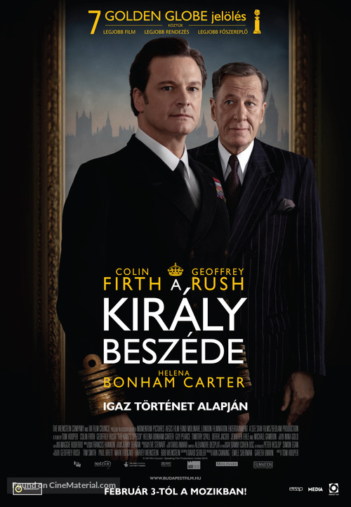 The King's Speech - Hungarian Movie Poster