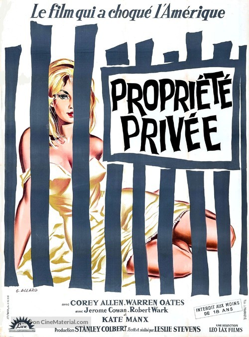 Private Property - French Movie Poster