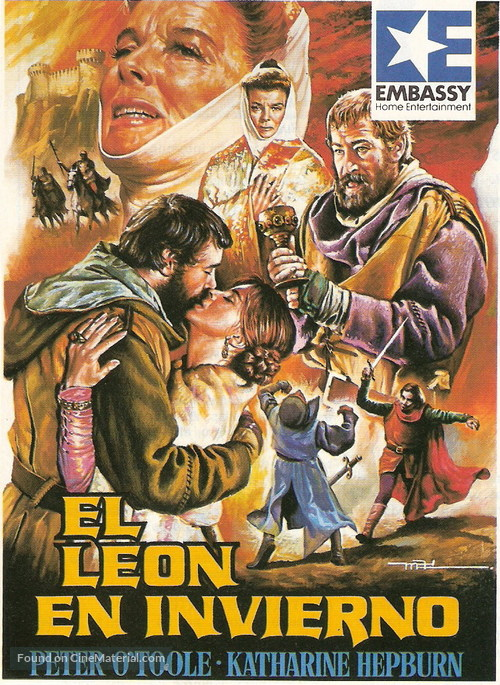 The Lion in Winter - Spanish Movie Poster