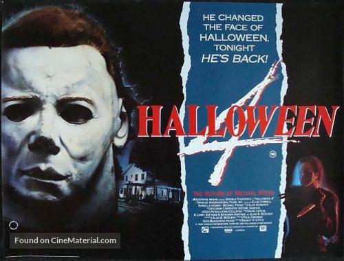 Halloween 4: The Return of Michael Myers - British Movie Poster
