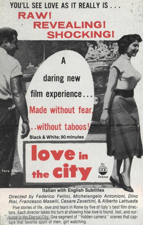 Amore in città, L' - poster