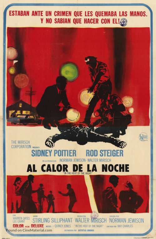 In the Heat of the Night - Argentinian Movie Poster