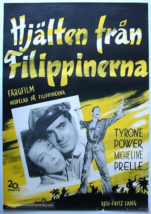 American Guerrilla in the Philippines - Swedish Movie Poster