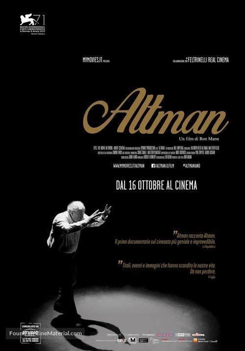 Altman - Italian Movie Poster