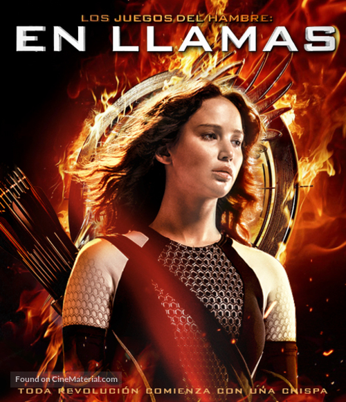 The Hunger Games Catching Fire 2013 Mexican Movie Cover