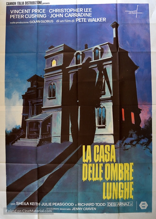 House of the Long Shadows - Italian Movie Poster