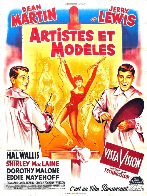Artists and Models - French Movie Poster