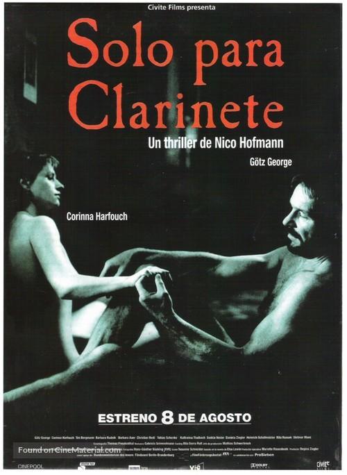Solo für Klarinette - Spanish Movie Poster