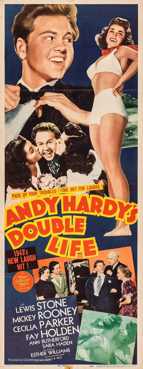 Andy Hardy's Double Life - Movie Poster