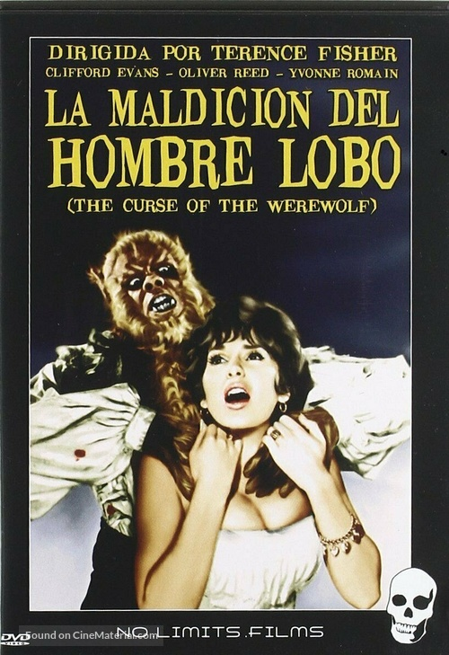 The Curse of the Werewolf - Spanish DVD movie cover