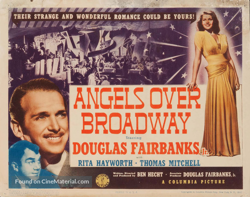 Angels Over Broadway - Movie Poster