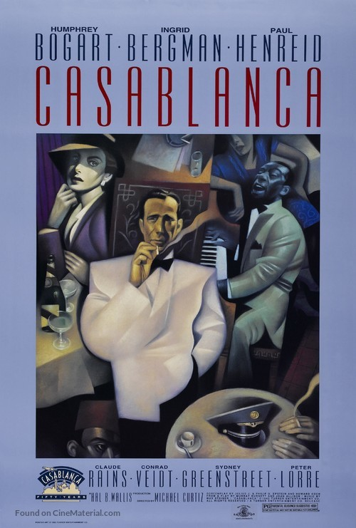 Casablanca - Re-release movie poster